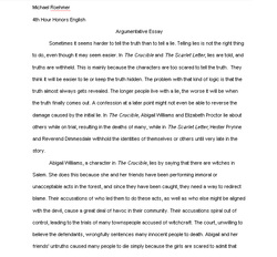 honors english application essay